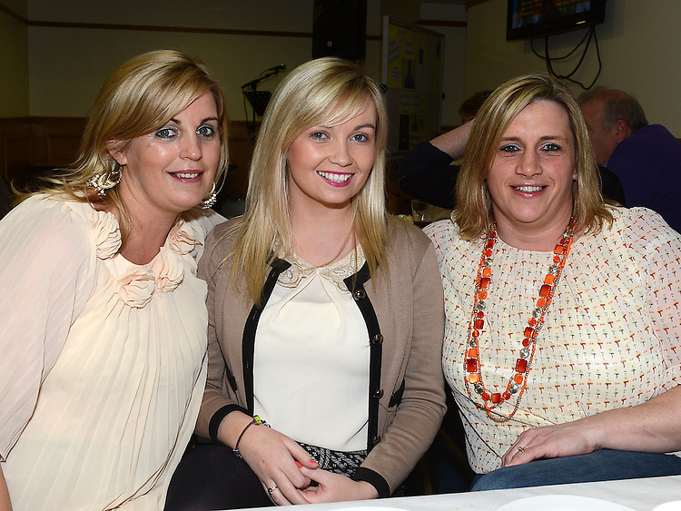 Siobhan and Laura Rooney and Dara Gillespie pictured at St mary's GFC Ardee awards night. Photo:Colin Bell/pressphotos.ie