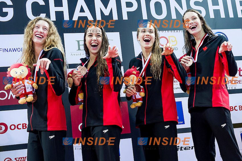 Team Canada CAN<br /> 4X100 Freestyle Women Relay Final Bronze Medal<br /> Day05 29/08/2015 - OCBC Aquatic Center<br /> V FINA World Junior Swimming Championships<br /> Singapore SIN  Aug. 25-30 2015 <br /> Photo A.Masini/Deepbluemedia/Insidefoto