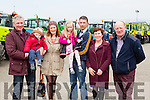 Eoin, Dylan, sinead and Niamh McCarthy, michael sheehan, mary O'Sullivan and Tim O'Sullivan  at the Mid Kerry Macra na Feirme Tractor run in Milltown on Sunday