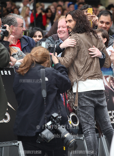 Russell Brand arriving for the Rock Of Ages Premiere, Odeon Leicester Square, London. 10/06/2012 Picture by: Alexandra Glen / Featureflash