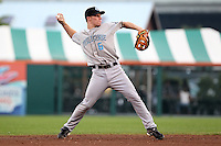 Syracuse Chiefs shortstop Brian Bixler during a game vs. the Buffalo Bisons at Coca-Cola Field in Buffalo, New York;  August 30, 2010.  Syracuse defeated Buffalo 4-1.  Photo By Mike Janes/Four Seam Images
