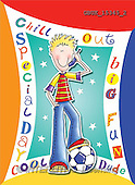 Stephen, TEENAGERS, paintings, boy, phone, football(GBUK15345/2,#J#)