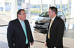 Pictured at the announcement of the ?KODA dealership in Western Motors, Drogheda is Zac Hollis, Brand Director, ?KODA Ireland and Simon McCormack, dealer principal, Western Motors Drogheda..Picture: Fran Caffrey/www.newsfile.ie.NO REPO FEE.