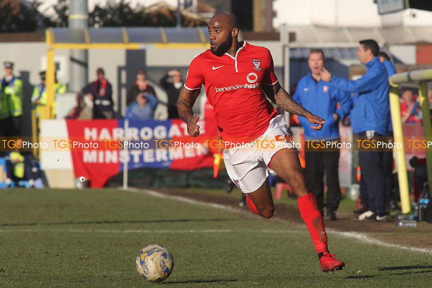 Emile Sinclair of York City - AFC Wimbledon vs York City - Sky Bet League Two Football at Kingsmeadow Stadium, Kingston upon Thames, Surrey - 07/03/15 - MANDATORY CREDIT: Paul Dennis/TGSPHOTO - Self billing applies where appropriate - contact@tgsphoto.co.uk - NO UNPAID USE