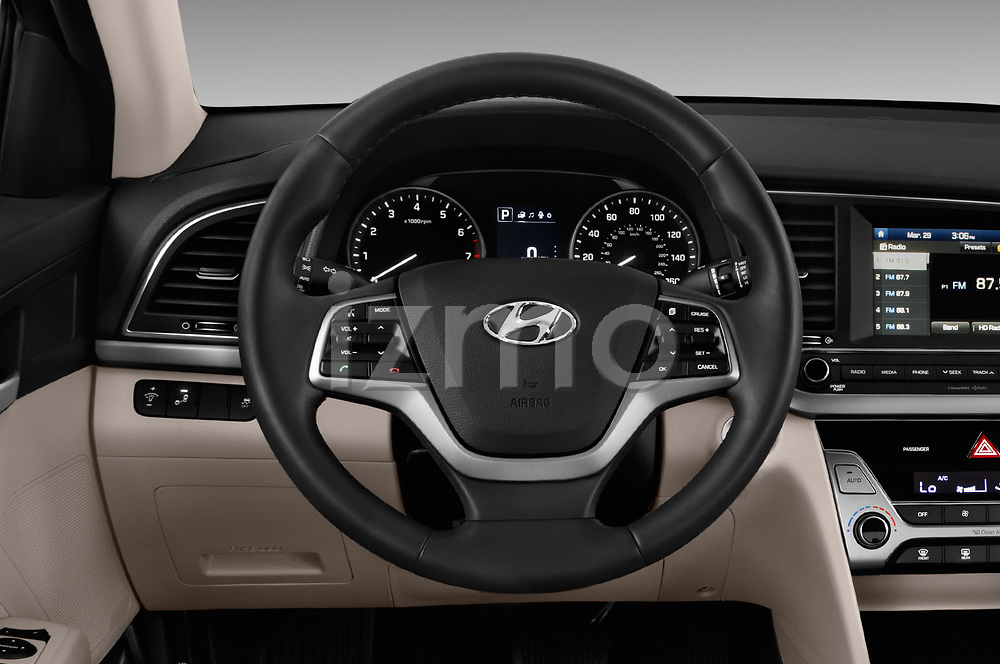 Car pictures of steering wheel view of a 2018 Hyundai Elantra ECO 4 Door Sedan