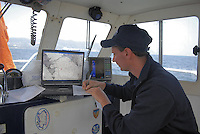 - campaign of surveys performed by CNR, ENEA and other international scientific institutes for waters monitoring in the gulf of La Spezia, for study of climatic changes effects on currents and marine ecosystem..- campagna di rilevamenti svolta dal CNR, dall'ENEA e numerosi altri istituti scientifici internazionali per il monitoraggio delle acque nel golfo di La Spezia, finalizzata allo studio degli effetti dei cambiamenti climatici sulle correnti e sull'ecosistema marino