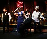 "Steve Tardio, Cassie Nadeau, John Guild and Eddie Varley  during the Epress preview for ""Truffles: Music! Mushroom Murder!!!"" at Secret Room on November 15, 2019 in New York City."