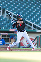 AZL Indians 1 designated hitter Bryan Lavastida (11) at bat during an Arizona League playoff game against the AZL Rangers at Goodyear Ballpark on August 28, 2018 in Goodyear, Arizona. The AZL Rangers defeated the AZL Indians 1 7-4. (Zachary Lucy/Four Seam Images)