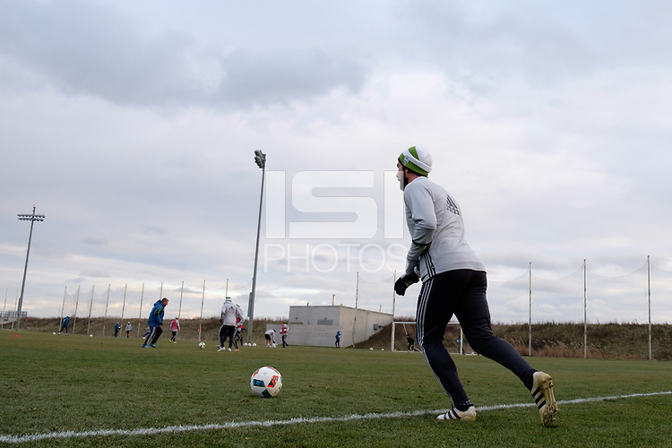 Toronto, ON, Canada - Thursday Dec. 08, 2016: Zach Scott during training prior to MLS Cup at the Kia Training Grounds.