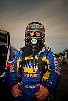 Mar. 30, 2012; Las Vegas, NV, USA: NHRA funny car driver Ron Capps during qualifying for the Summitracing.com Nationals at The Strip in Las Vegas. Mandatory Credit: Mark J. Rebilas-US PRESSWIRE