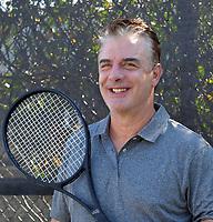 NOV 09 Chris North Playing Tennis in Fort Lauderdale