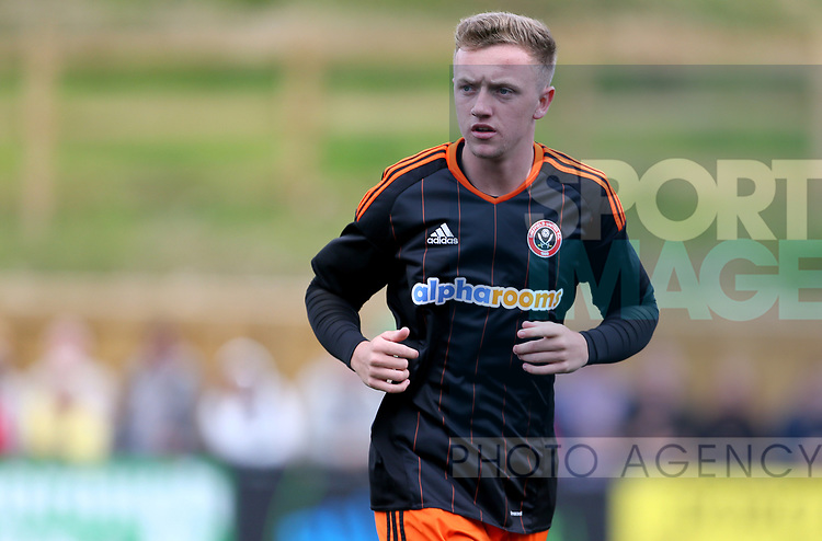 Jordan Hallam of Sheffield Utd during the pre season match at the Flamingo Land Stadium, Scarborough. Picture date 15th July 2017. Picture credit should read: Richard Sellers/Sportimage