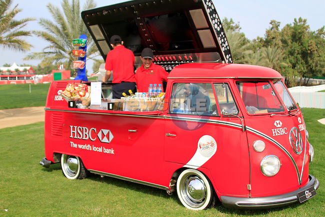 Refreshments during Thusday Day 1 of the Abu Dhabi HSBC Golf Championship, 20th January 2011..(Picture Eoin Clarke/www.golffile.ie)