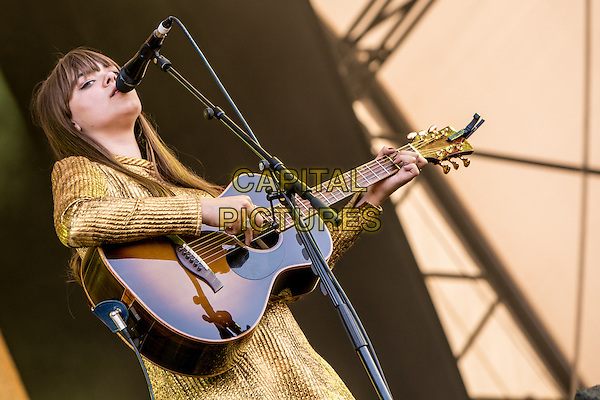 19th July 2014: Swedish folk duo First Aid Kit play the Obelisk Arena on the third day of the 9th edition of the Latitude Festival, Henham Park, Suffolk.<br /> Members: Johanna and Klara S&ouml;derberg<br /> CAP/PP/HOG<br /> &copy;HOG/PP/Capital Pictures