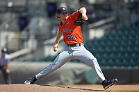 Buies Creek Astros relief pitcher Tyler Ivey (22) in action against the Winston-Salem Dash at BB&T Ballpark on July 15, 2018 in Winston-Salem, North Carolina. The Dash defeated the Astros 6-4. (Brian Westerholt/Four Seam Images)