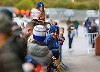 Leeds United fans wait for the players to arrive at Elland Road<br /> <br /> Photographer Alex Dodd/CameraSport<br /> <br /> The EFL Sky Bet Championship - Leeds United v Brentford - Saturday 6th October 2018 - Elland Road - Leeds<br /> <br /> World Copyright &copy; 2018 CameraSport. All rights reserved. 43 Linden Ave. Countesthorpe. Leicester. England. LE8 5PG - Tel: +44 (0) 116 277 4147 - admin@camerasport.com - www.camerasport.com