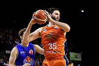 Sharks' Alex Pledger in action during the  NBL - Cigna Saints v Southland Sharks at TSB Bank Arena, Wellington, New Zealand on Thursday 25 April 2019. <br /> Photo by Masanori Udagawa. <br /> www.photowellington.photoshelter.com