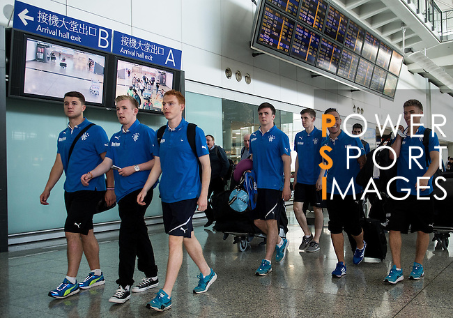 Rangers Legends arrive to the Hong Kong International Airport ahead the HKFC Citibank Soccer Sevens 2014 on May 21, 2014 in Hong Kong, China. Photo by Aitor Alcalde / Power Sport Images