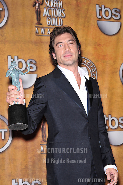 Javier Bardem at the 14th Annual Screen Actors Guild Awards at the Shrine Auditorium, Los Angeles, CA..January 27, 2008  Los Angeles, CA.Picture: Paul Smith / Featureflash