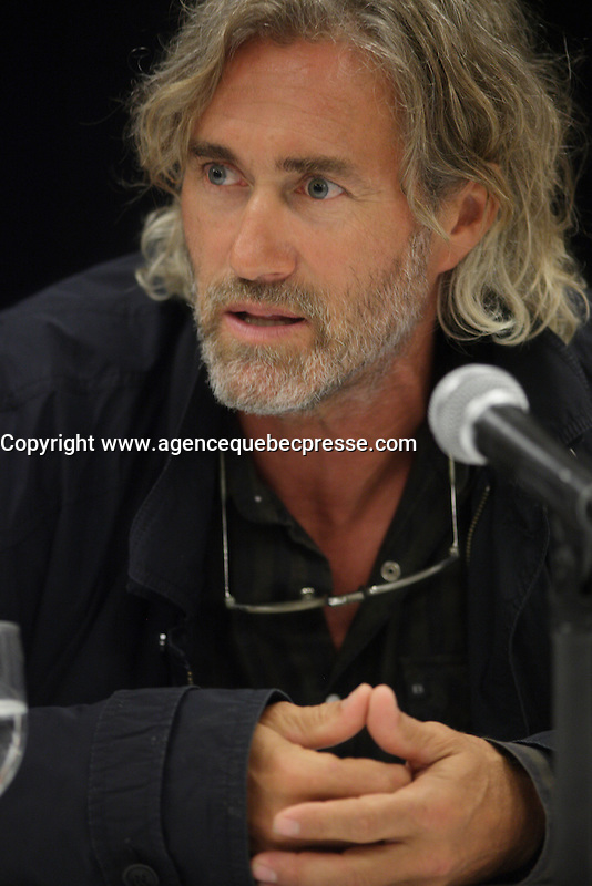 August 22, 2013 - Montreal, Quebec, CANADA- Roy Dupuis, actor attend the<br /> News conference for L'AUTRE MAISON<br /> , opening movie of the 2013 World Film Festival