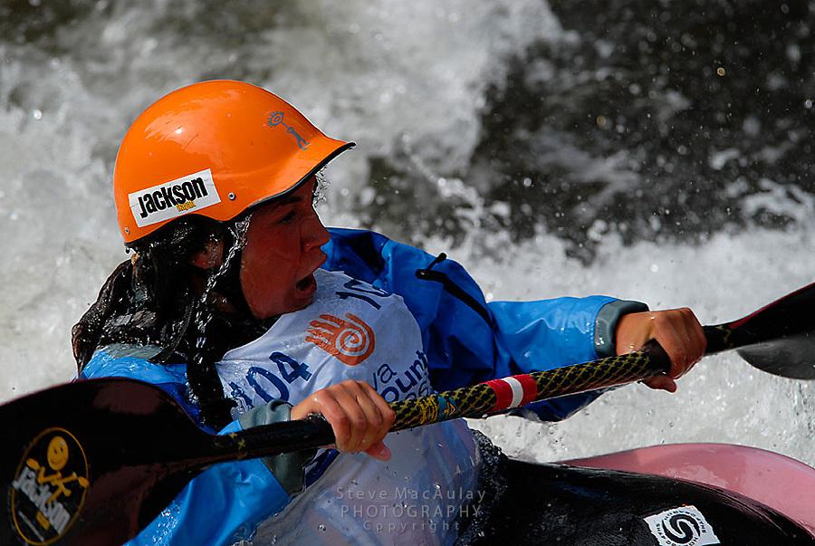 Whitewater kayaking at Teva Mountain Games, Vail CO.