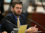 Uber General Manager Steve Thompson testifies in a committee at the Legislative Building in Carson City, Nev., on Monday, March 30, 2015. <br /> Photo by Cathleen Allison