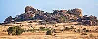 Kopje or elevated weathered rocky outcrop providing shelter and sanctuary to wildlife, Kenya (photo by Wildlife Photographer Matt Considine)