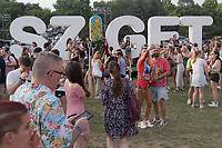Revellers enjoy Sziget Festival held in Budapest, Hungary on Aug. 7, 2019. ATTILA VOLGYI
