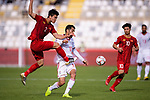 Do Duy Manh of Vietnam (L) fights for the ball with Vahid Amiri of Iran (R) during the AFC Asian Cup UAE 2019 Group D match between Vietnam (VIE) and I.R. Iran (IRN) at Al Nahyan Stadium on 12 January 2019 in Abu Dhabi, United Arab Emirates. Photo by Marcio Rodrigo Machado / Power Sport Images