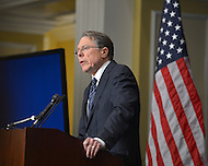 December 21, 2012  (Washington, DC)  NRA President Wayne Lapierre delivers prepared remarks during a news conference in Washington. His remarks come one week after the Sandy Hook shooting.  (Photo by Don Baxter/Media Images International)