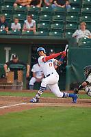 Romer Cuadrado (17) of the Ogden Raptors bats against the Grand Junction Rockies at Lindquist Field on September 6, 2017 in Ogden, Utah. Ogden defeated Grand Junction 11-7. (Stephen Smith/Four Seam Images)