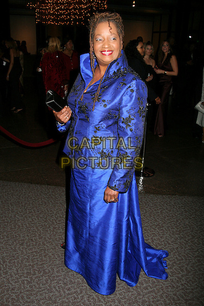 SYLVIA M'LAFI THOMPSON.NAACP 17th Annual Theatre Awards Honoree & Nominee Announcments at the Directors Guild, West Hollywood, California, USA, 19 February 2007..full length blue dress jacket skirt suit.CAP/ADM/BP.©Byron Purvis/AdMedia/Capital Pictures.