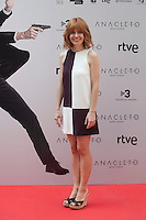 Spanish actress Alexandra Jimenez poses during the `Anacleto agente secreto´ film presentation in Madrid, Spain. September 01, 2015. (ALTERPHOTOS/Victor Blanco)