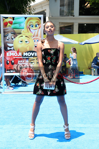 "Chandler Kinney<br /> at the premiere of ""The Emoji Movie,"" Village Theater, Westwood, CA 07-23-17<br /> David Edwards/DailyCeleb.com 818-249-4998"