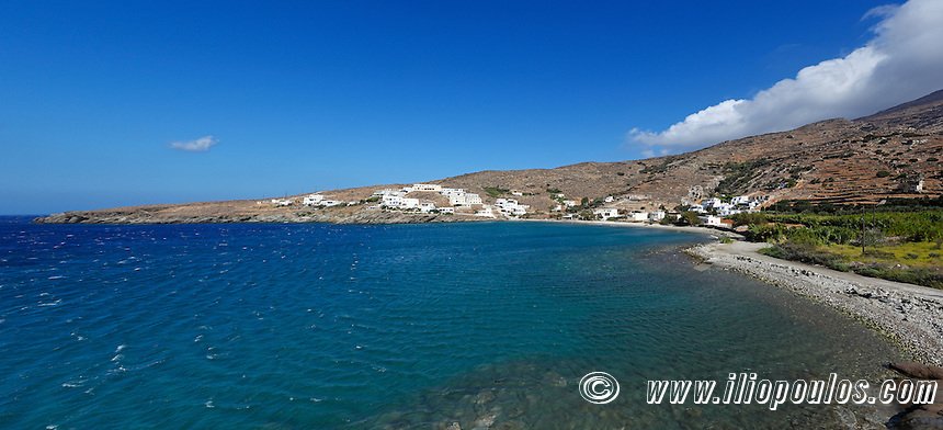 The picturesque bay Gianaki in Tinos island, Greece