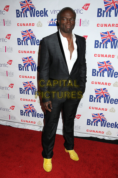 "SEAL.BritWeek 2011 Fundraising Gala Dinner Benefiting LA's BEST ""Joy of Reading"" held at L.A. Live, Los Angeles, California, USA..April 28th, 2011.full length black suit white shirt yellow shoes .CAP/ADM/BP.©Byron Purvis/AdMedia/Capital Pictures."