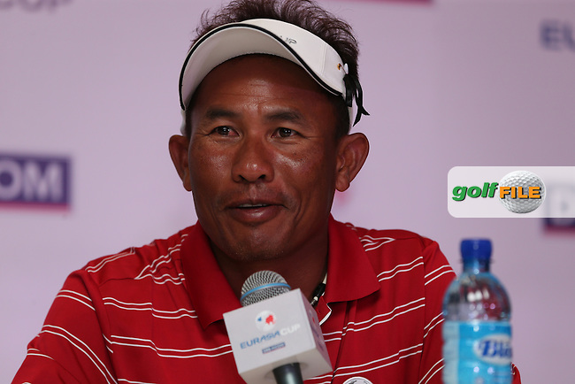 Team Asia Captain, Thongchai Jaidee (THA) proud of his team's performance to claw back three points during the second day Foursome matches at the 2014 EurAsia Cup presented by DRB-Hicom, at the Glenmarie Golf & Country Club, Kuala Lumpur, Malaysia. Picture:  David Lloyd / www.golffile.ie