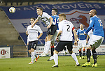 Nicky Clark heads in to open the scoring for Rangers