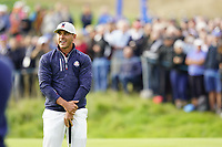 Brooks Koepka (Team USA) on the 5th during the friday fourballs at the Ryder Cup, Le Golf National, Iles-de-France, France. 27/09/2018.<br /> Picture Fran Caffrey / Golffile.ie<br /> <br /> All photo usage must carry mandatory copyright credit (© Golffile | Fran Caffrey)