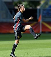 20170719 - BREDA , NETHERLANDS :  Belgian Laura De Neve pictured during Matchday -1 training session of the Belgian national women's soccer team Red Flames on the pitch of NAC BREDA , on wednesday 19 July 2017 in stadion Rat Verlegh in Breda . The Red Flames are at the Women's European Championship 2017 in the Netherlands. PHOTO SPORTPIX.BE | DAVID CATRY