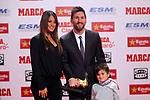 Lionel Messi Bota de Oro 2016/2017.<br /> Antonella Roccuzzo &amp; Lionel Messi.