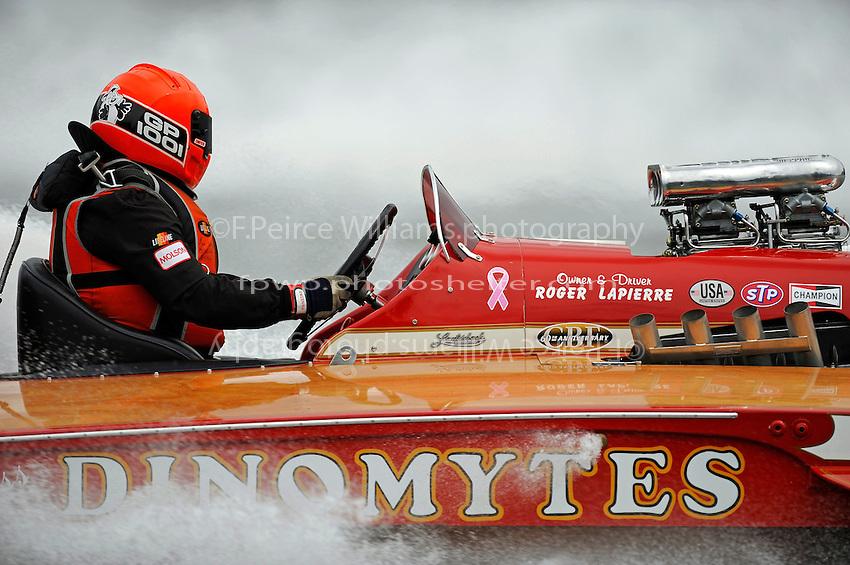 "Roger LaPierre, GP-1001 ""Miss Dinomytes"" (1986 Grand Prix class Lauterbach hydroplane)"
