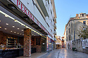 Zadar, Croatia. 14.10.2018. Street next to the market, Hrvojav Hrvatnica, rebuilt after the Homelands War of 1991, Old Town, Zadar, Croatia. Photograph © Jane Hobson.