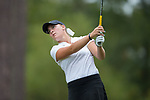 Jennifer Kupcho of the Wake Forest Demon Deacons follows through on her tee shot on the fifth hole during second round action at the Ruth's Chris Tar Heel Invitational on October 14, 2017 in Chapel Hill, North Carolina. (Brian Westerholt/Sports On Film)