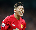 Marcos Rojo of Manchester United during the English Premier League match at Old Trafford Stadium, Manchester. Picture date: April 16th 2017. Pic credit should read: Simon Bellis/Sportimage