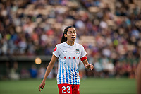 Seattle, WA - Wednesday, June 28, 2017: Christen Press during a regular season National Women's Soccer League (NWSL) match between the Seattle Reign FC and the Chicago Red Stars at Memorial Stadium.