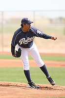 Pedro Hernandez, San Diego Padres 2010 minor league spring training..Photo by:  Bill Mitchell/Four Seam Images.