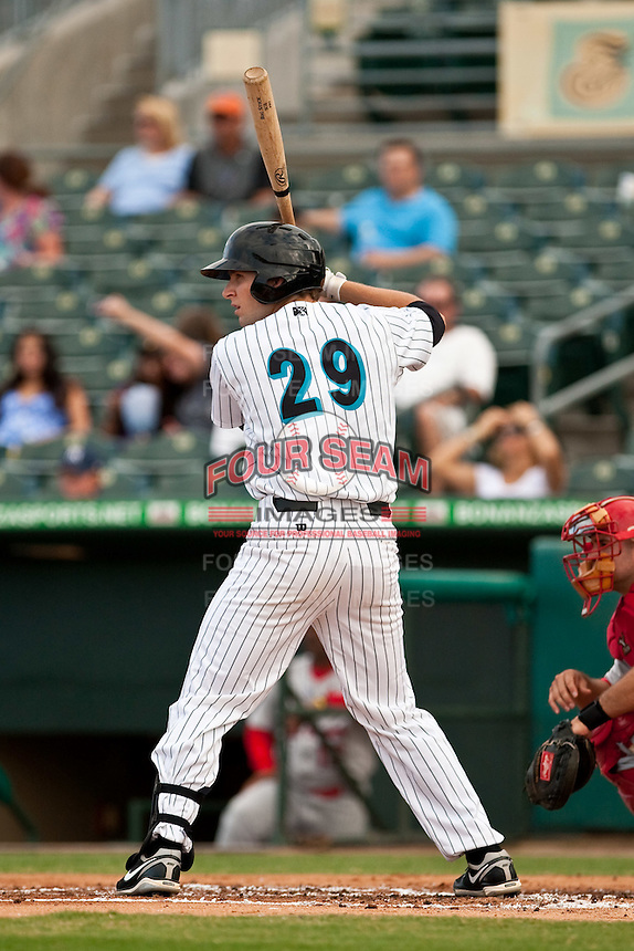 May 1 2010: Ben Lasater (29) of the Jupiter Hammerheads  during a game vs. the Palm Beach Cardinals at Roger Dean Stadium in Jupiter, Florida. Palm Beach, the Florida State League High-A affiliate of the St. Louis Cardnials, won the game against Jupiter, affiliate of the Florida Marlins, by the score of 5-4  Photo By Scott Jontes/Four Seam Images
