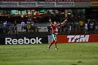 ATENÇÃO EDITOR: FOTO EMBARGADA PARA VEÍCULOS INTERNACIONAIS SÃO PAULO,SP,15 SETEMBRO 2012 - CAMPEONATO BRASILEIRO - SÃO PAULO x PORTUGUESA - Bruno Mineiro jogador da Portuguesa   comemora gol durante partida São Paulo x Portuguesa  válido pela 25º rodada do Campeonato Brasileiro no Estádio Cicero Pompeu de Toledo  (Morumbi), na região sul da capital paulista na noite deste sabado (15). (FOTO: ALE VIANNA -BRAZIL PHOTO PRESS).