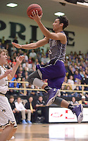 NWA Democrat-Gazette/BEN GOFF @NWABENGOFF<br /> Payton Willis of Fayetteville attempts a shot against Bentonville on Friday Feb. 26, 2016 during the game in Bentonville's Tiger Arena.